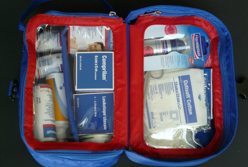 first aid kit with medication